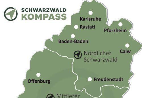 Nordschwarzwald Karte Übersicht.
