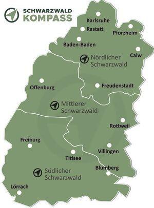 Schwarzwald Karte Übersicht