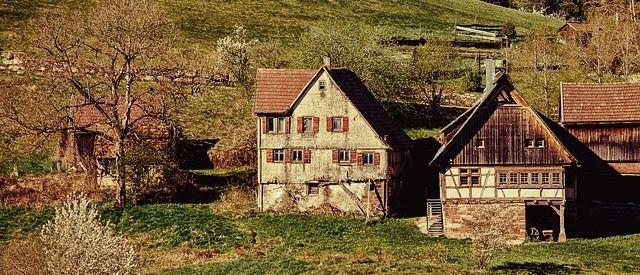 Häuser wie vor 100ten von Jahren in Baisersbronn.